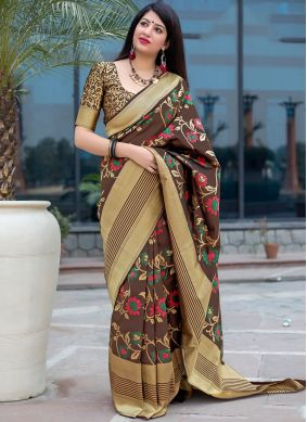 Sensational Art Silk Multi Colour Traditional Designer Saree