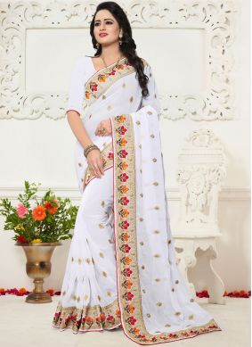 Sensational Georgette Zari Work Saree