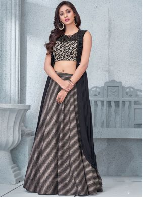 Sensible Embroidered Black Lehenga Choli
