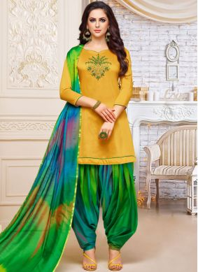 Sensible Embroidered Party Designer Patiala Suit