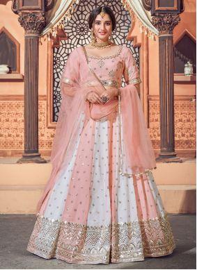 Pink Sequins Mehndi Lehenga Choli