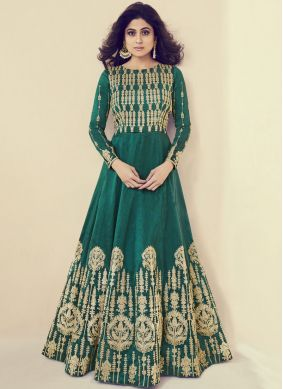 Shamita Shetty Art Silk Floor Length Anarkali Suit