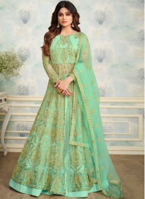 Shamita Shetty Embroidered Green Trendy Designer Lehenga Choli
