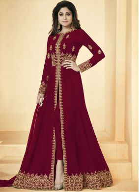 Shamita Shetty Floor Length Anarkali Suit