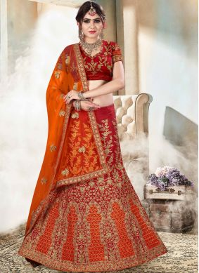 Sightly Patch Border Art Silk Lehenga Choli