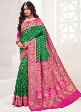 Silk Green Bollywood Saree