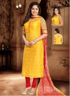 Silk Lace Trendy Salwar Suit