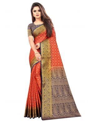 Silk Multi Colour Trendy Saree