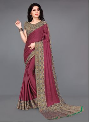 Silk Printed Multi Colour Casual Saree