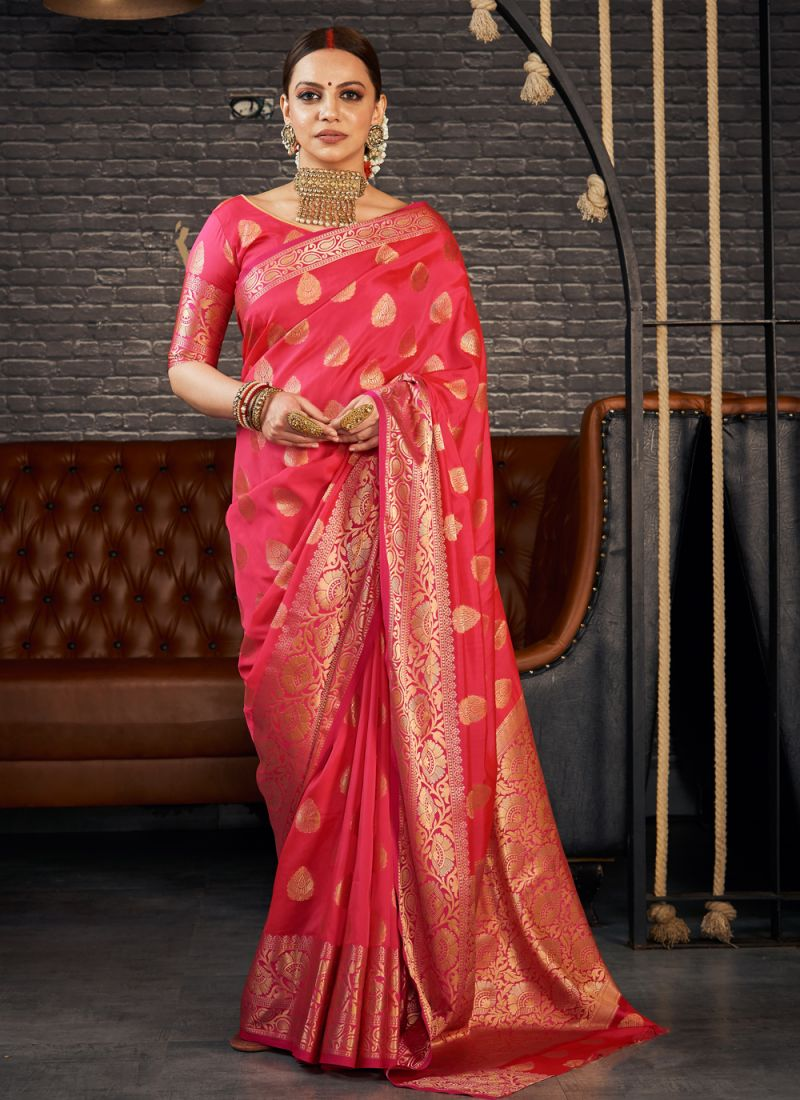 Silk Red Traditional Saree