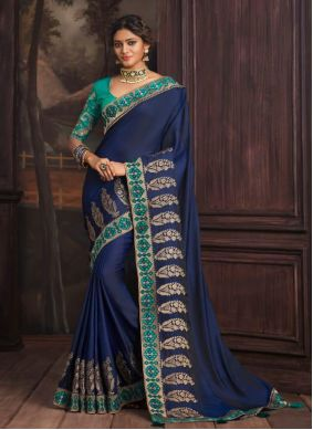 Silk Traditional Saree in Blue