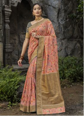Silk Traditional Saree in Pink