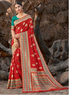 Silk Traditional Saree in Red