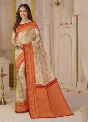 Silk Weaving Classic Saree in Multi Colour