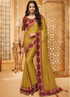 Sonorous Fancy Fabric Patch Border Traditional Saree