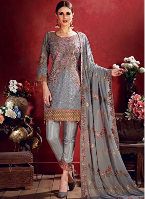 Sonorous Grey Salwar Suit
