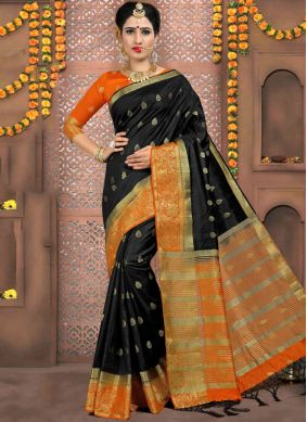 Sophisticated Black Classic Designer Saree