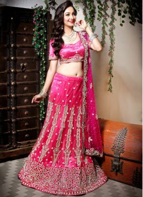 Sparkling Embroidered Net Designer Lehenga Choli