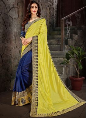Spellbinding Art Silk Embroidered Trendy Saree