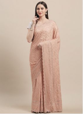 Stone Faux Georgette Traditional Saree