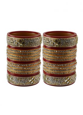 Stone Red Bangles