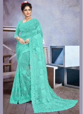 Stone Work Net Contemporary Saree