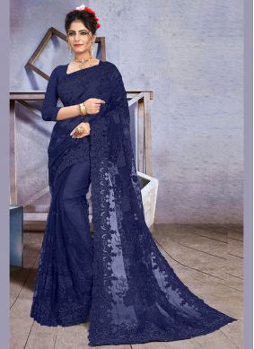 Stone Work Party Traditional Designer Saree