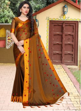 Stone Work Sangeet Saree