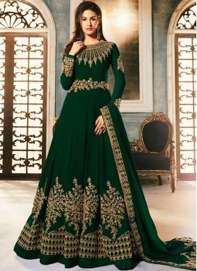 Strange Embroidered Anarkali Salwar Kameez