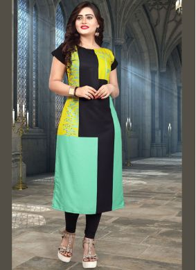 Striking Multi Colour Casual Kurti