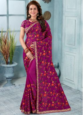 Stunning Purple Trendy Saree