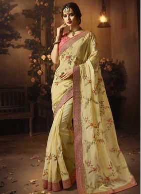 Stupendous Patch Border Art Silk Designer Traditional Saree