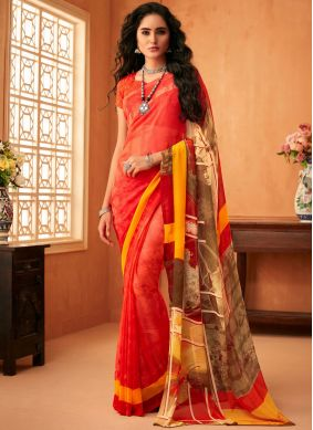 Subtle Faux Georgette Multi Colour Printed Saree