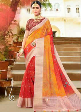 Sunshine Weaving Fancy Fabric Shaded Saree