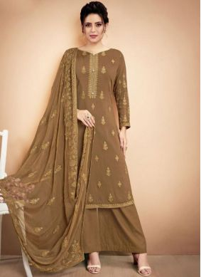 Superb Embroidered Festival Designer Palazzo Suit