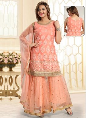 Superb Peach Wedding Punjabi Suit
