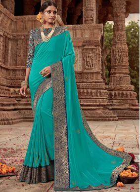 Tantalizing Border Festival Designer Traditional Saree