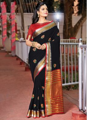 Tantalizing Cotton Classic Designer Saree