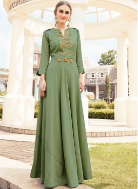 Tantalizing Embroidered Muslin Party Wear Kurti