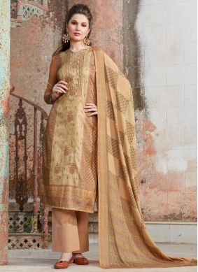 a0666c4241 Quick View · Tempting Beige Embroidered Tussar Silk Designer Palazzo Suit