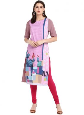 Tempting Faux Crepe Party Wear Kurti