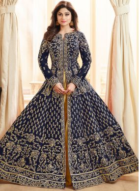 Tempting Lace Shamita Shetty Art Silk Long Choli Lehenga