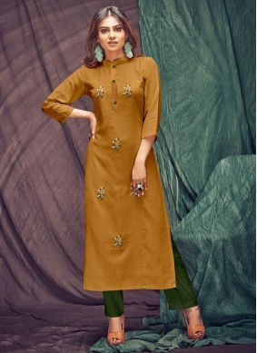 Thread Linen Casual Kurti