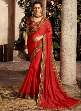 Tiptop Embroidered Traditional Saree