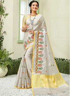 Topnotch Embroidered Classic Saree