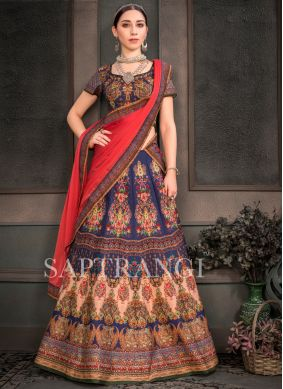 Topnotch Multi Colour Mehndi Lehenga Choli