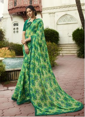 Green Traditional Saree For Party