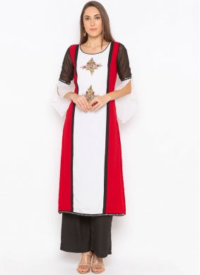 Trendy Embroidered Party Wear Kurti