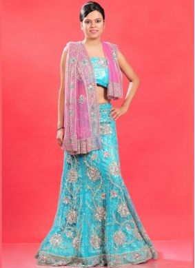 Trendy Patch Border Net Lehenga Choli
