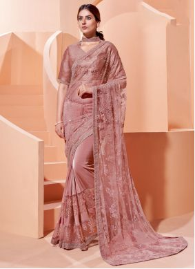 Pink Trendy Saree For Engagement